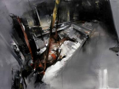 Circus 140-190 cm acrylic and oil on canvas 2010