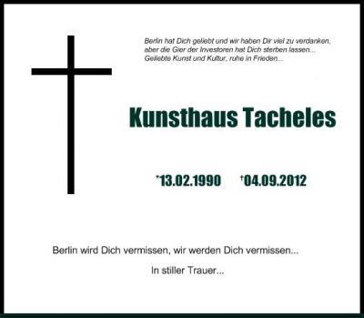 Tacheles bleibt!