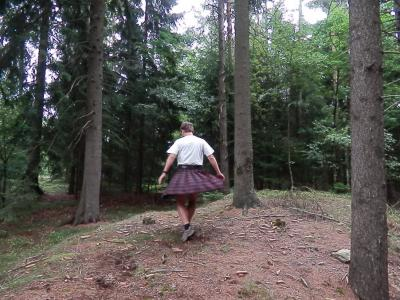Tomáš Zahálka v sukni