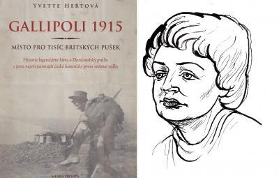 Poslední kniha Yvette Heřtové a autorčin portrét
